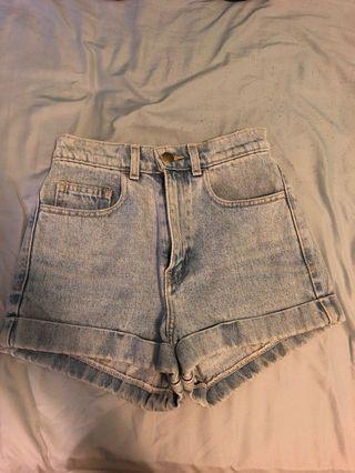American apparel denim shorts sz 24