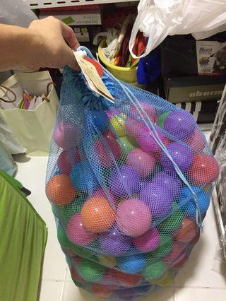 BNIB Plastic air filled pit balls