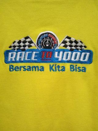 Tshirt Kuning TATA MOTORS OFFICIAL race to 4000 #fave777888