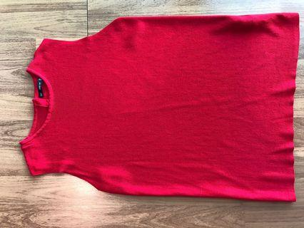 Zara red knit top