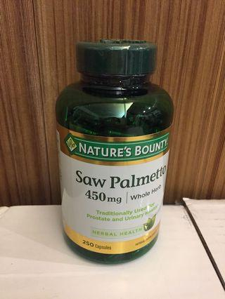 鋸棕櫚  450mg 250 顆 Nature's Bounty Saw Palmetto