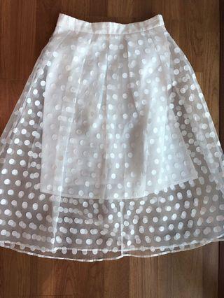 Miss selfridge polka dot skirt