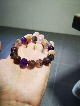 Super 8 (超级八)Natural crystal all well being bracelet. Stone 11mm width.