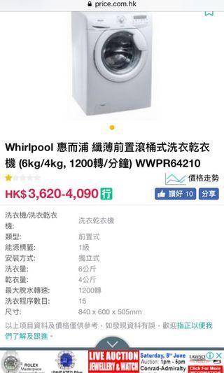 Whirlpool 惠而浦洗衣機