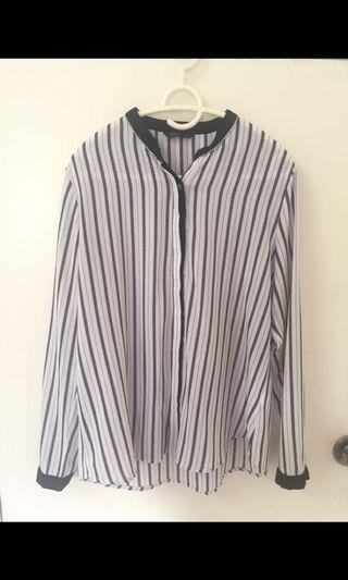 Rope Stripes Blouse