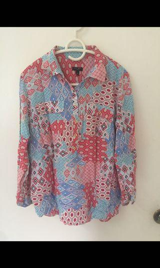 Abstract Blouse size L
