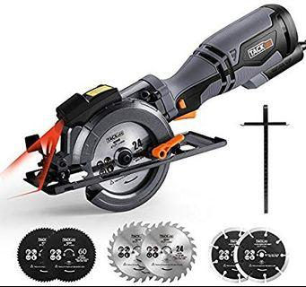 TACKLIFE 710W 3500RPM Circular Saw with Laser