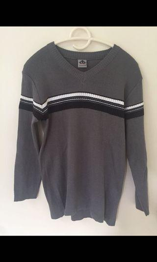 Knitted Grey Top Size M