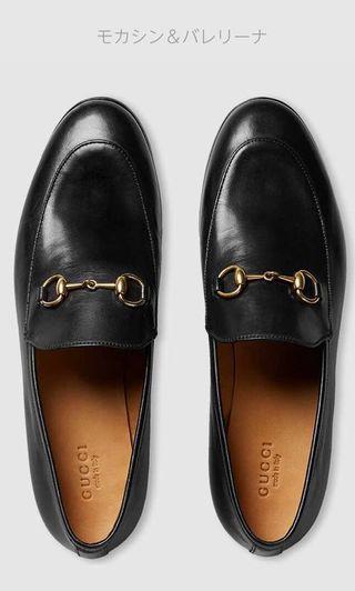 新品 GUCCI 經典黑色樂福鞋 37.5