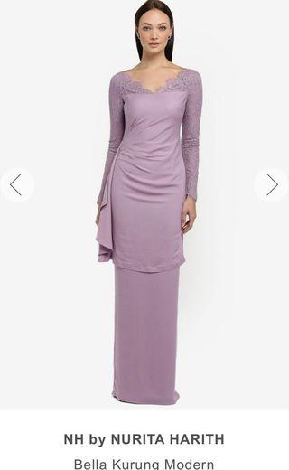 "NOT FOR RENT OR SWAP‼️Nurita Harith ""BELLA"" Kurung Modern in Violet"