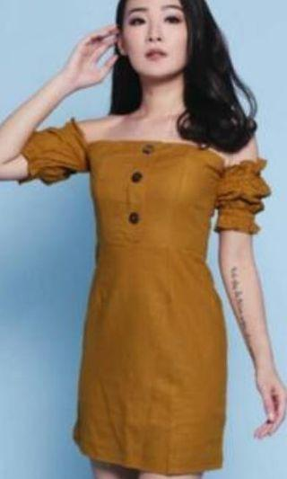 sabrina dress mustard
