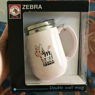 🚚 Zebra Double Wall Mug