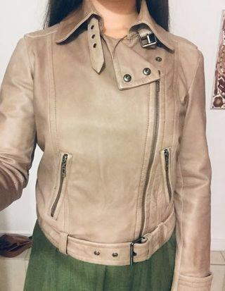 Genuine Leather Jacket from Mango