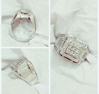 Gold Diamonds Men Ring