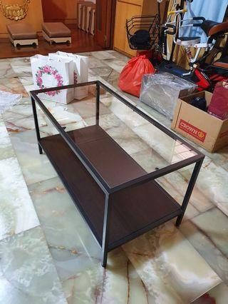 Glass table console