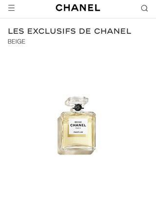 Brand New LES EXCLUSIFS DE CHANEL BEIGE Parfume 15ml
