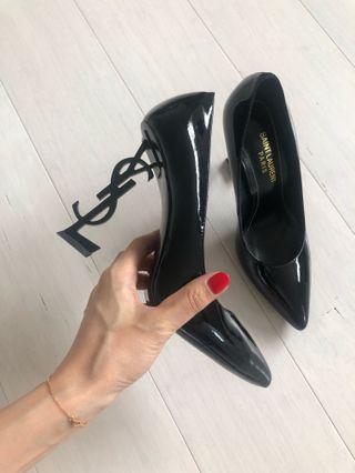 Reduced SAINT LAURENT Patent Leather Opium Monogramme Heels
