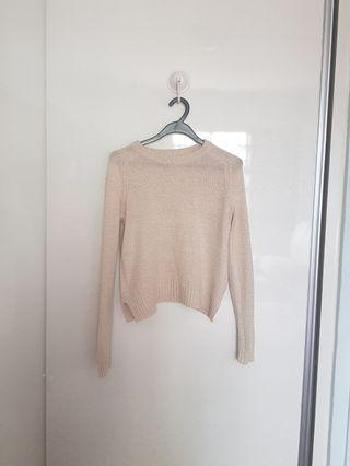 H&M Cream Knitted Pullover
