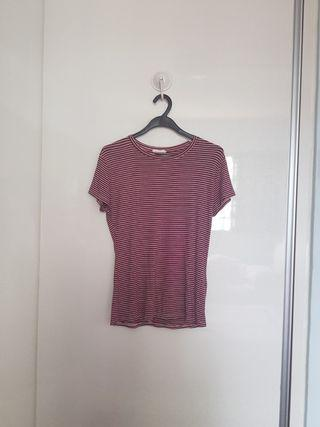 Zara Red Striped T-shirt