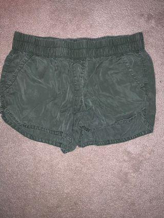 American eagle green soft shorts