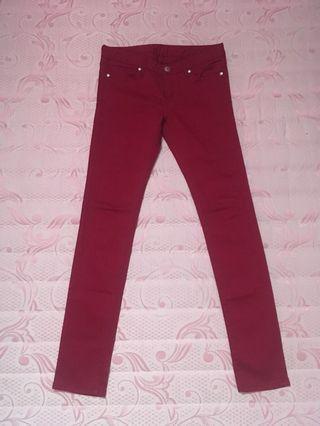 Celana jeans maroons heritage