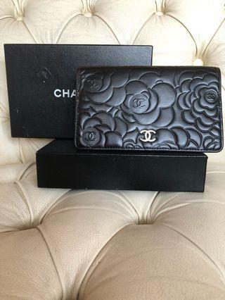 Chanel wallet camellia lambskin