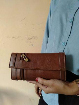 Dompet Pu Leather Brown