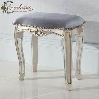 Abigail Mirrored French Stool