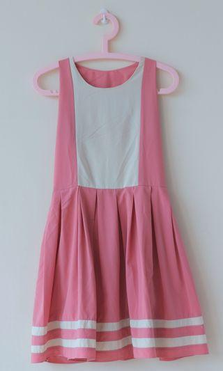 Mididress dusty pink *freeongkir