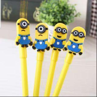 Minion Cute Pen - Perfect gift for kids, students, friends, colleagues, events, children's party! Birthday Goodie Bags / Loot Bags / Childrens Day / Teachers Day / Friendship Day/ Christmas / School / Study / Art / Stationery/  Travel / Cartoon