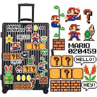 Mario Luggage stickers suitcase stickers 行李箱貼紙