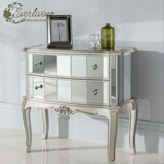 Abigail French style Mirrored Cabinet