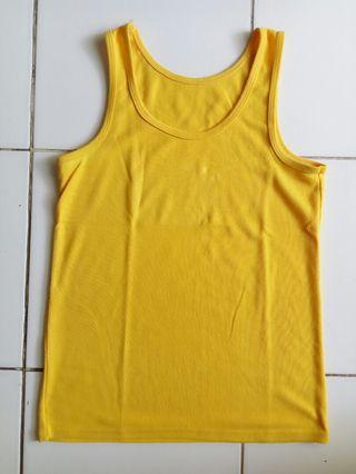 #belanjabulanan Yellow Tank Top