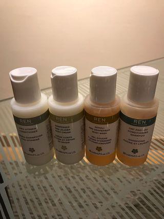 🚚 REN body & hair care set