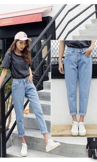 Light blue mom jeans