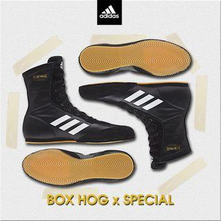 🚚 Adidas Black Box Hog X Special Black Shoes