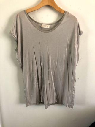 Zara grey top with sheer back
