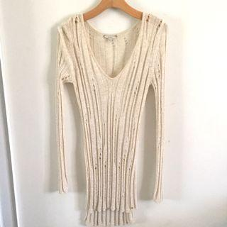 Gold guess knit
