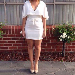 Guess white formal dress