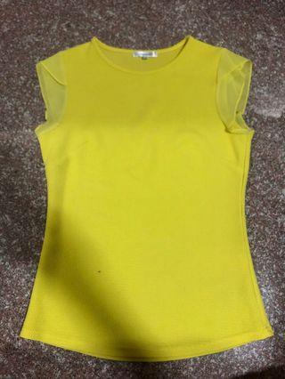 TEMT neon yellow top