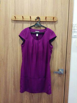 H&M maroon purple dress