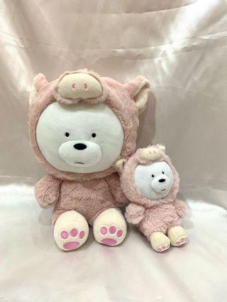 We Bare Bear Doll and Keychain Miniso