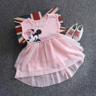 [Free Shipping] New with tag! Premium Branded DISNEY JUNIOR Baby Kids Girl Sweet Pink Princess Dress (2T)