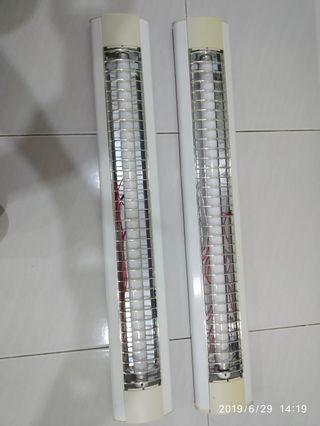 2 units of used fluorescent light