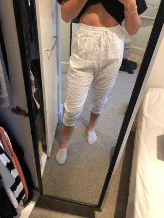 White baggy seafolly pants