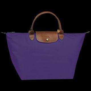 Longchamp Le Pliage Top-Handle (M) (Colour: AMETHYST)