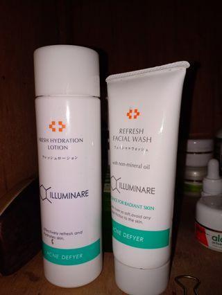 illuminare facial wash dan toner