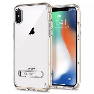 Spigen Crystal Gold Hybrid Case for iPhone XS and X