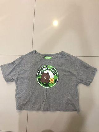 Line Friends Collection by Giordano Crop Top