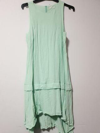 🍇Pink stitch sleeveless dress
